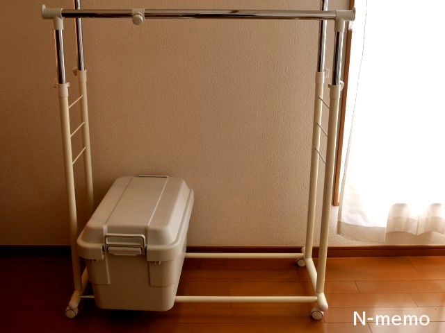 洗濯用品がすべて頑丈収納ボックスに入ったのですっきり