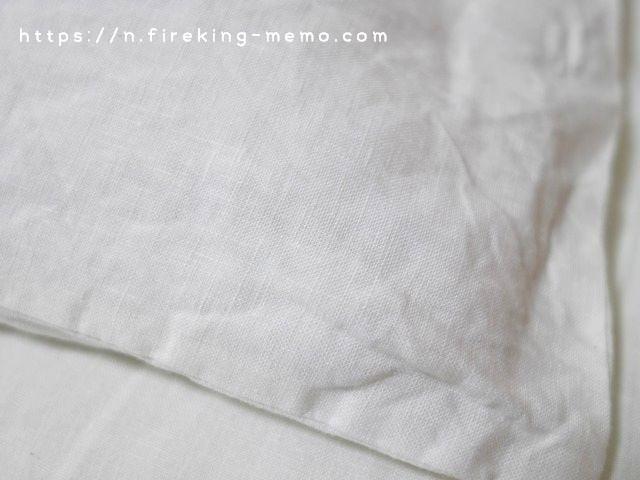 リネンの枕カバー