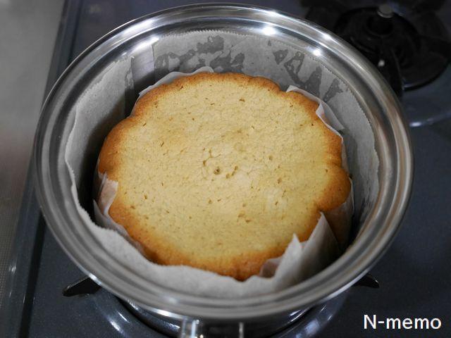 ビタクラフトのお鍋でスポンジケーキが焼けた
